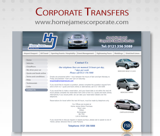 Home James Corporate Chaffeur Services Birmingham